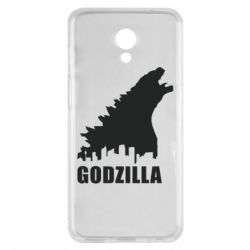 Чехол для Meizu M6s Godzilla and city - FatLine