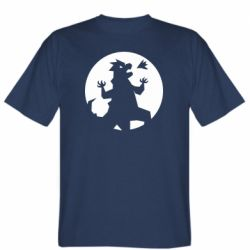 Мужская футболка Godzilla and moon