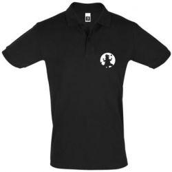Мужская футболка поло Godzilla and moon