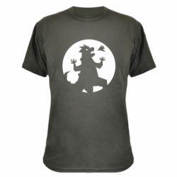 Камуфляжная футболка Godzilla and moon