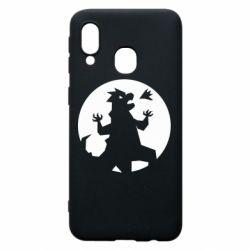 Чехол для Samsung A40 Godzilla and moon