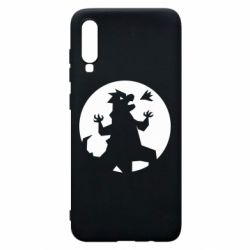 Чехол для Samsung A70 Godzilla and moon