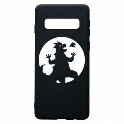 Чехол для Samsung S10 Godzilla and moon