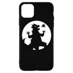 Чехол для iPhone 11 Pro Godzilla and moon
