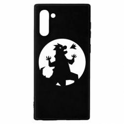 Чехол для Samsung Note 10 Godzilla and moon