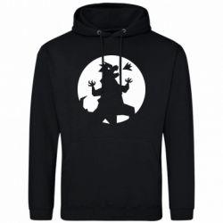 Мужская толстовка Godzilla and moon