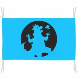 Флаг Godzilla and moon