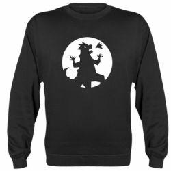 Реглан (свитшот) Godzilla and moon