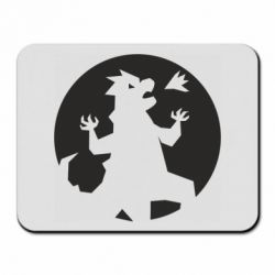 Коврик для мыши Godzilla and moon