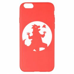 Чехол для iPhone 6 Plus/6S Plus Godzilla and moon