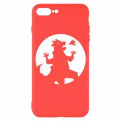 Чехол для iPhone 7 Plus Godzilla and moon