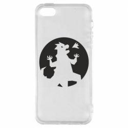 Чехол для iPhone5/5S/SE Godzilla and moon