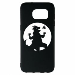 Чехол для Samsung S7 EDGE Godzilla and moon