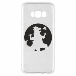 Чехол для Samsung S8 Godzilla and moon