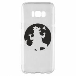 Чехол для Samsung S8+ Godzilla and moon