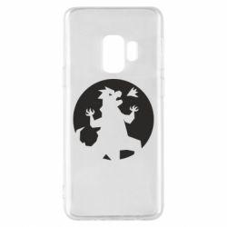 Чехол для Samsung S9 Godzilla and moon