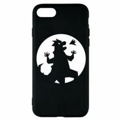 Чехол для iPhone 8 Godzilla and moon