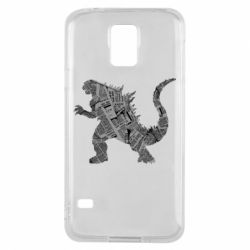 Чохол для Samsung S5 Godzilla from the newspapers