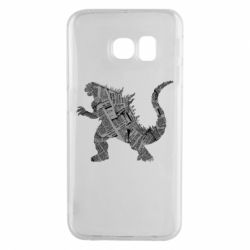 Чохол для Samsung S6 EDGE Godzilla from the newspapers