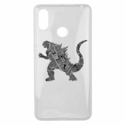 Чохол для Xiaomi Mi Max 3 Godzilla from the newspapers