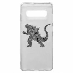 Чохол для Samsung S10+ Godzilla from the newspapers