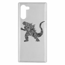 Чохол для Samsung Note 10 Godzilla from the newspapers
