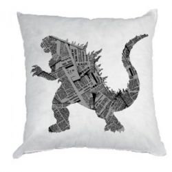 Подушка Godzilla from the newspapers