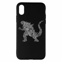 Чохол для iPhone X/Xs Godzilla from the newspapers