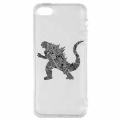 Чохол для iphone 5/5S/SE Godzilla from the newspapers
