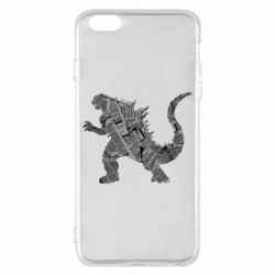Чохол для iPhone 6 Plus/6S Plus Godzilla from the newspapers