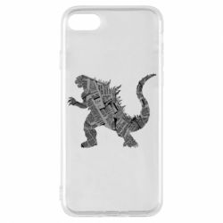 Чохол для iPhone 8 Godzilla from the newspapers