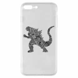 Чохол для iPhone 8 Plus Godzilla from the newspapers