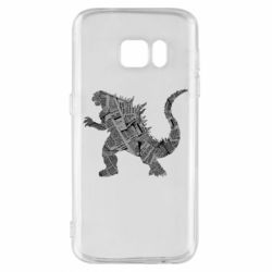 Чохол для Samsung S7 Godzilla from the newspapers
