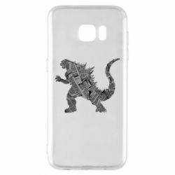 Чохол для Samsung S7 EDGE Godzilla from the newspapers
