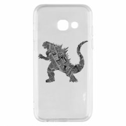 Чохол для Samsung A3 2017 Godzilla from the newspapers