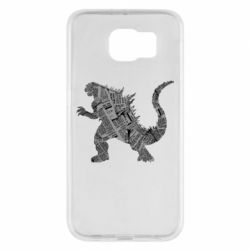Чохол для Samsung S6 Godzilla from the newspapers
