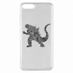 Чохол для Xiaomi Mi Note 3 Godzilla from the newspapers