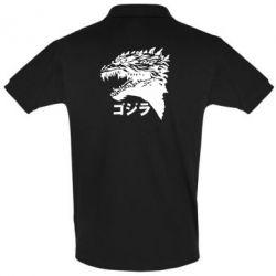 Футболка Поло Godzilla in japanese