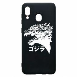 Чохол для Samsung A20 Godzilla in japanese