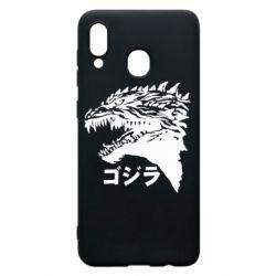 Чохол для Samsung A30 Godzilla in japanese