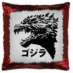 Подушка-хамелеон Godzilla in japanese