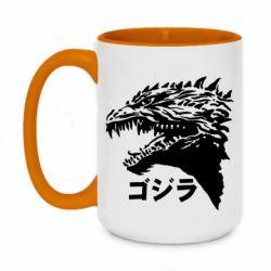 Кружка двоколірна 420ml Godzilla in japanese