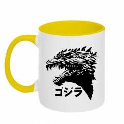 Кружка двоколірна 320ml Godzilla in japanese