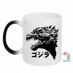 Кружка-хамелеон Godzilla in japanese