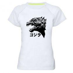 Жіноча спортивна футболка Godzilla in japanese