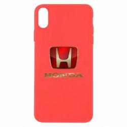 Чехол для iPhone Xs Max Gold Honda
