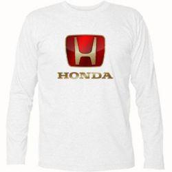 Футболка с длинным рукавом Gold Honda - FatLine