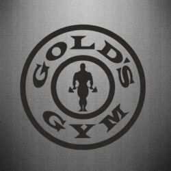 Наклейка Gold's Gym - FatLine