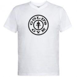 Мужская футболка  с V-образным вырезом Gold's Gym - FatLine