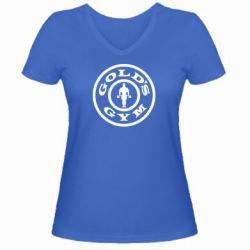 Женская футболка с V-образным вырезом Gold's Gym - FatLine